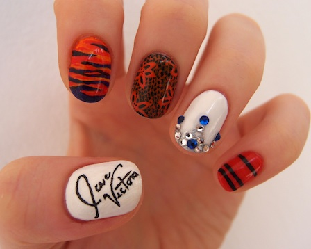 0806 victoria beckham nail art ten blank canvases celebrity nails bd The most beautiful nails designs 2014