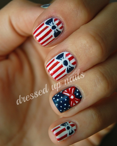4th-of-July nails design