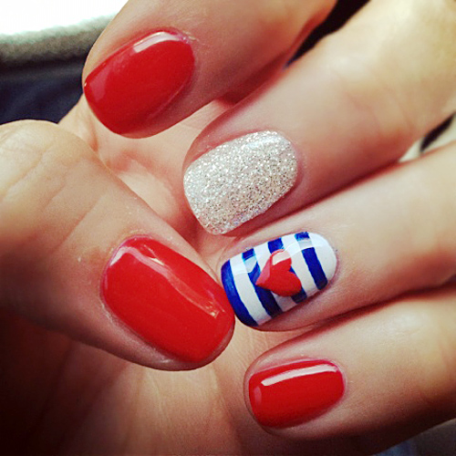 4th of july nails 1 The most beautiful nails designs 2014