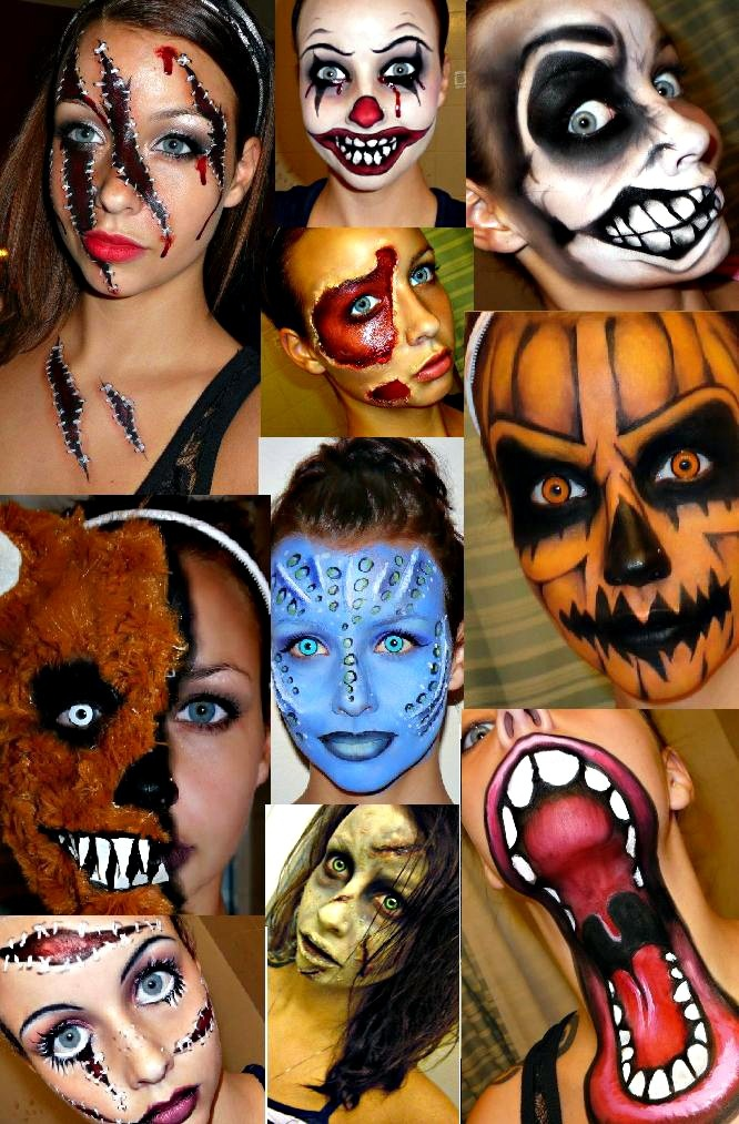Halloween makeup for girls Halloween makeup   ideas and tutorial