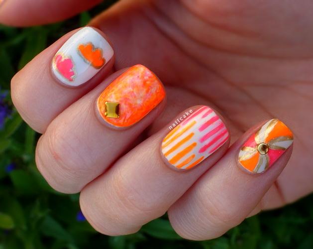 Illamasaqua Collide Gamma neon skittle nail art 4 The most beautiful nails designs 2014