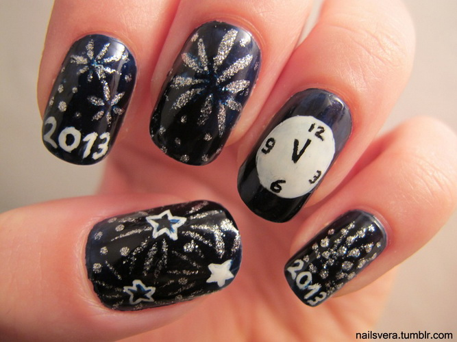 New Year's nail designs New Year's nail designs