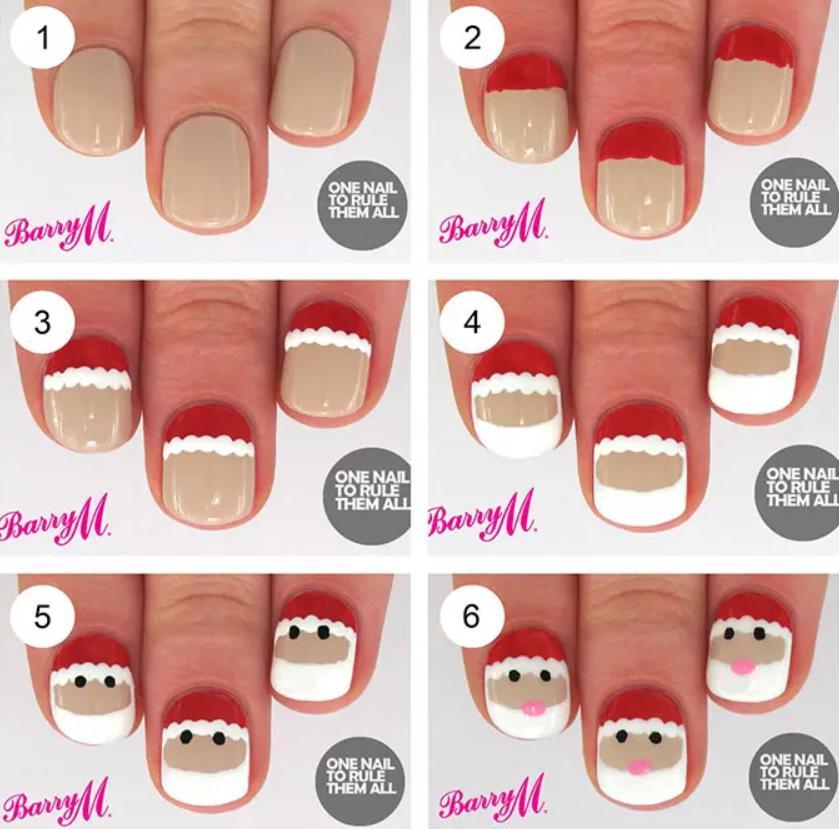 Santa Art nails