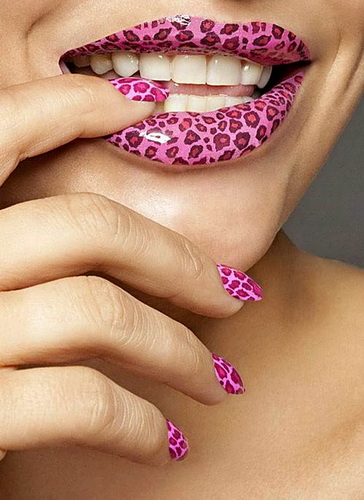 animal print designs for nails