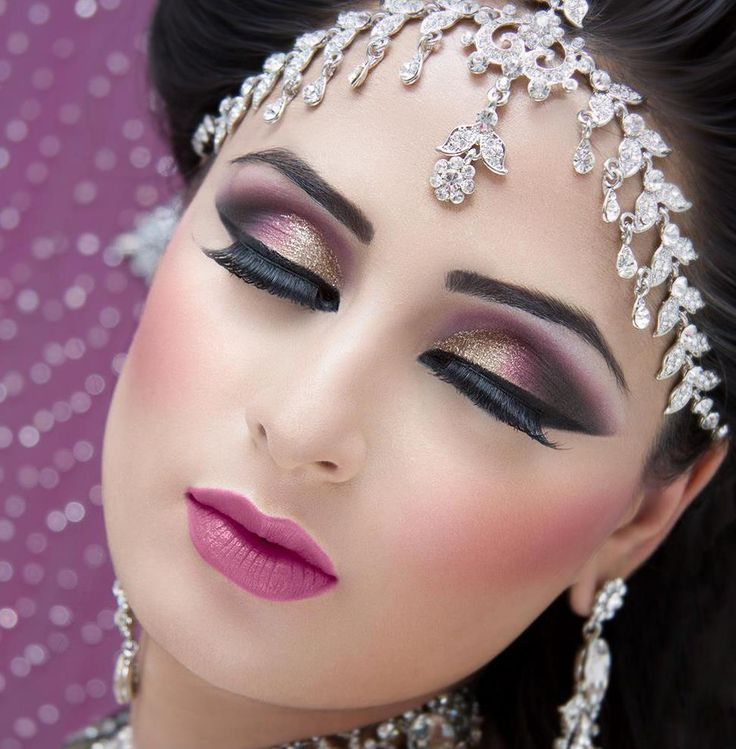 Wedding Eye Makeup Pink : Arabic makeup tutorials and pictures - yve-style.com