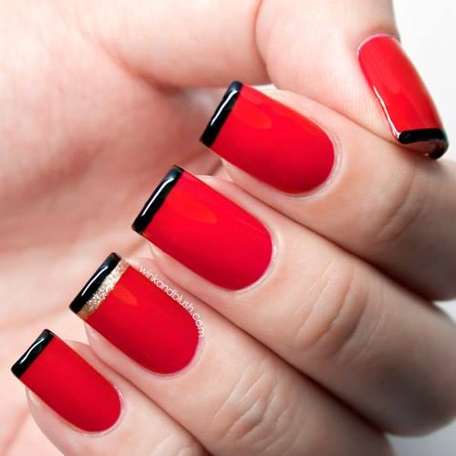 black french nails Easy nail designs