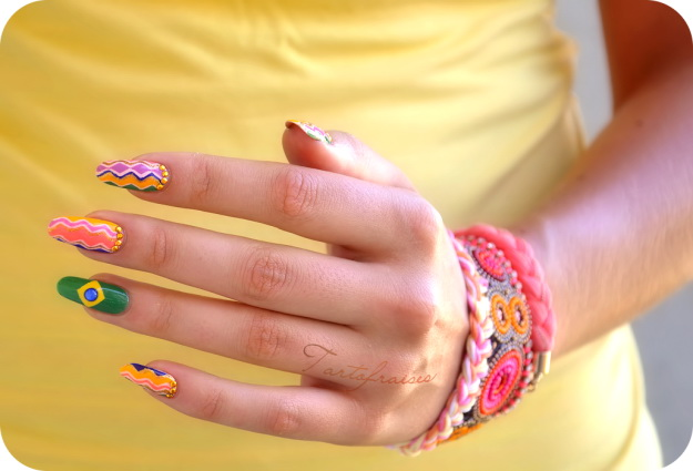 brazil 1 The most beautiful nails designs 2014