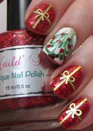 christmas and new years nail designs New Year's nail designs