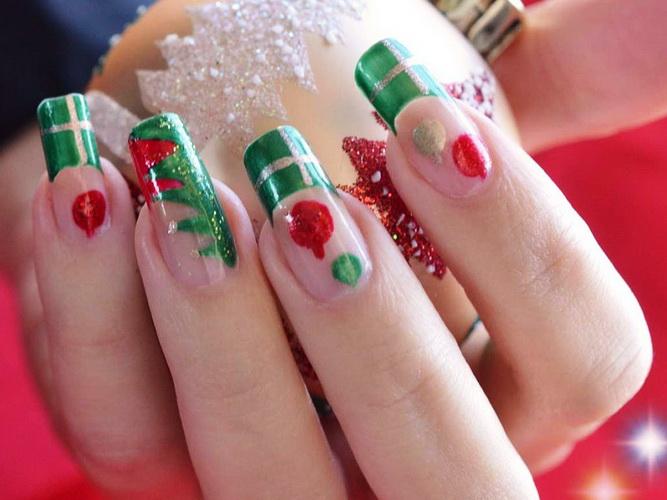 christmas nail design Nail designs for Christmas