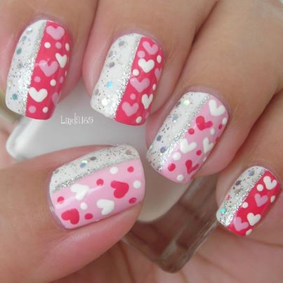 cute valentine nail designs