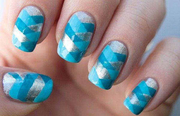 impletitura albastra pe unghii The most beautiful nails designs 2014