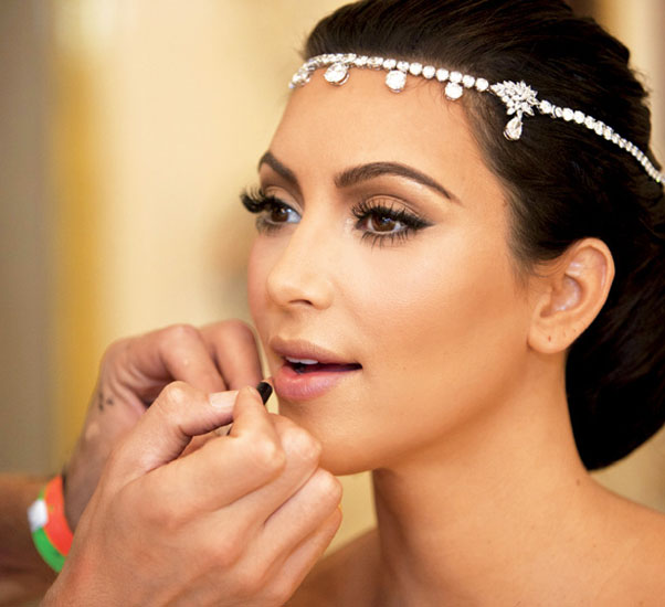 kim kardashian bride makeup