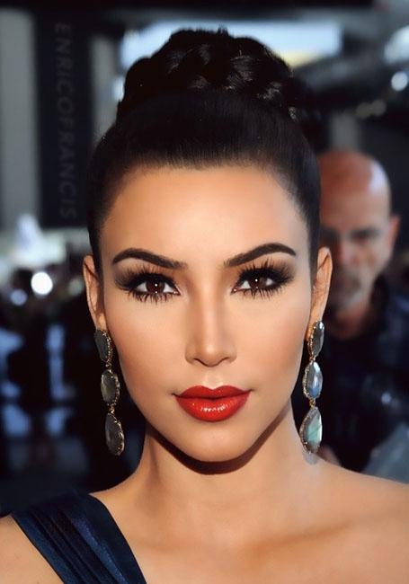 kim kardashian makeup Makeup for brown eyes