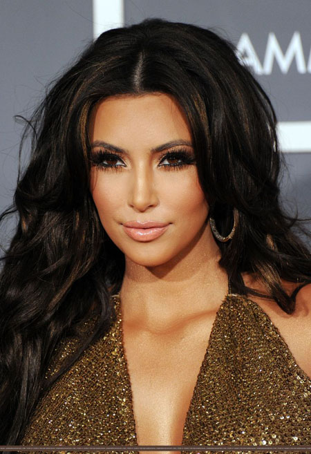 kim kardashian with makeup Kim Kardashian makeup   tips and tricks
