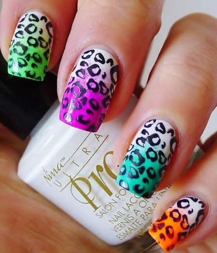 leopard print nail design Nail designs animal print
