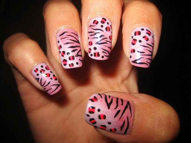 nail art designs animal print