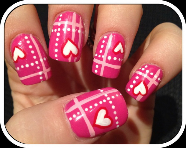 nail art for valentines day
