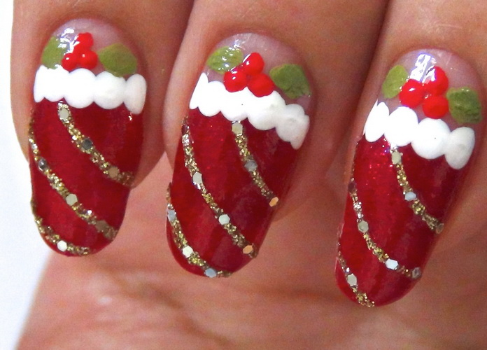 nail design for christmas