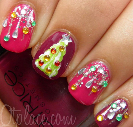 nails design for christmas