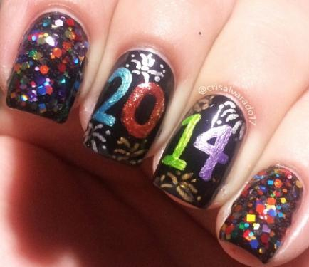 Nails design new year beautify themselves with sweet nails new years nails designs new years nail designs prinsesfo Images