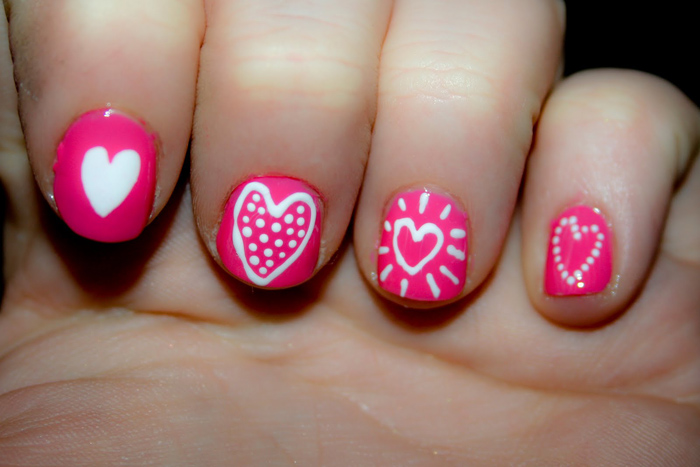 20 nails designs for short nails yve style pink short nail designs prinsesfo Image collections