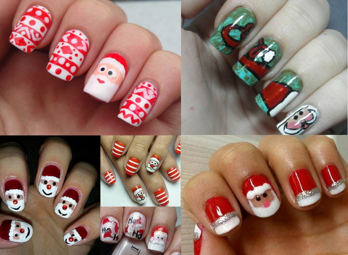 santa claus nails design