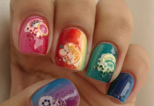 short nails art