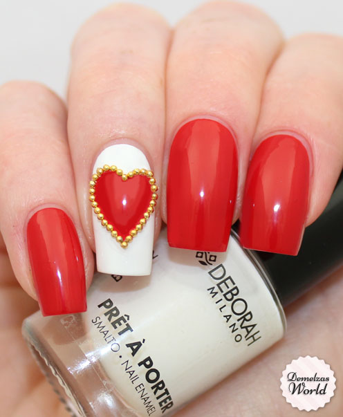 simple red nails Easy nail designs