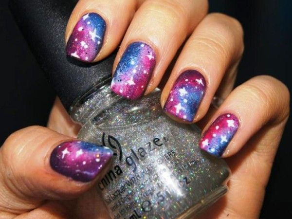 sky design for short nails