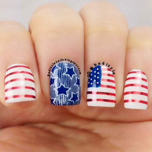 usa nails design