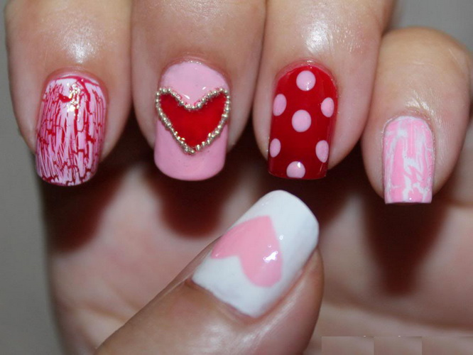 valentine day nail designs