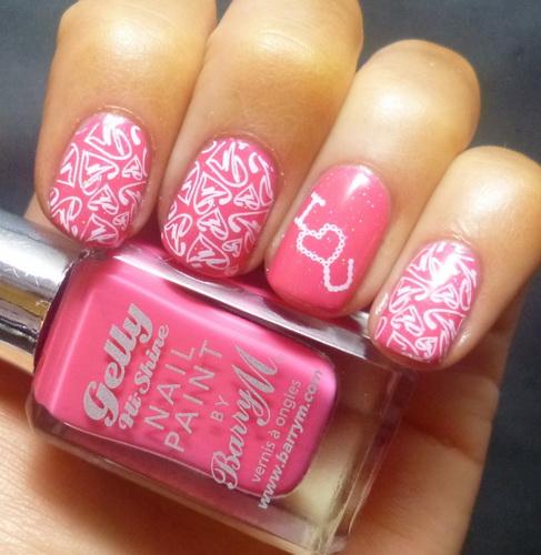 valentine nail design