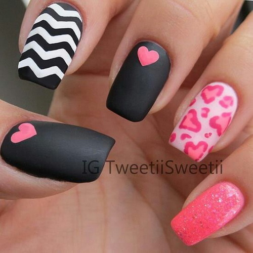 ... valentine nails design Nail designs for valentines ... - Nail Designs For Valentines - Yve-style.com