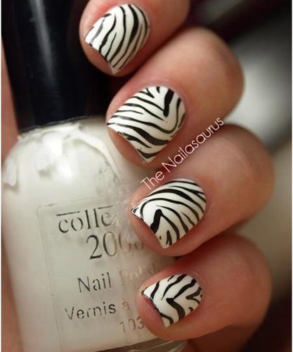 zebra print nail designs Nail designs animal print