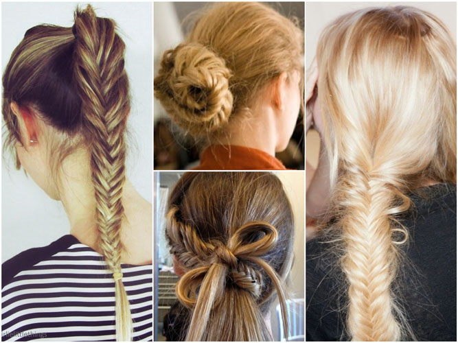 Fishtails hairstyle