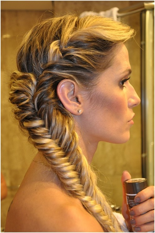 The fishtail braided hairstyles