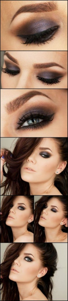 brown smokey eye makeup 234x1024 How to do smokey eye makeup with pictures