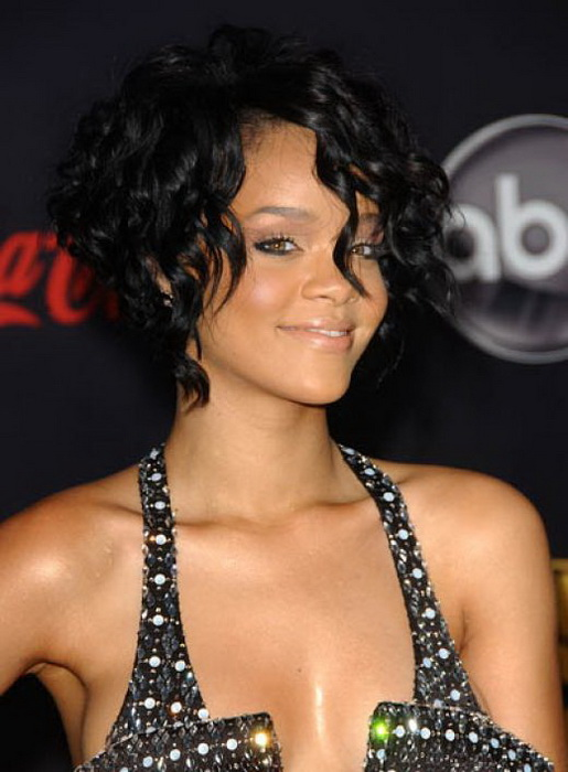 rihanna black hairstyle