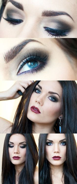 smokey eye makeup for blue eyes How to do smokey eye makeup with pictures
