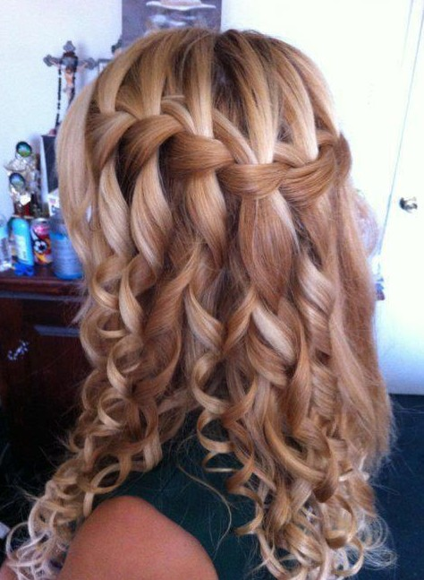 waterfall braided hairstyles