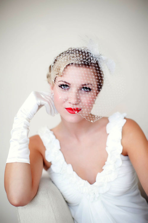 Retro bridal makeup