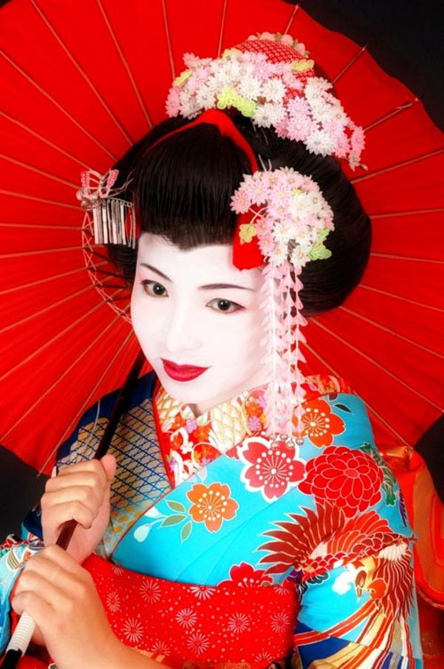 authentic geisha makeup Geisha makeup tutorial and pictures