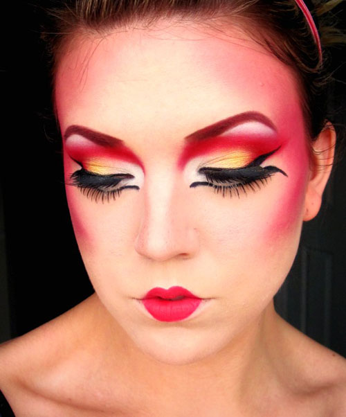 modern geisha makeup Geisha makeup tutorial and pictures