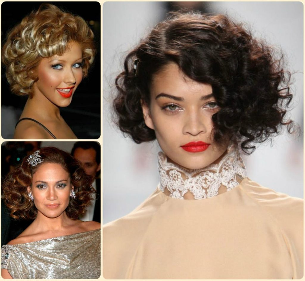 short natural curly hairstyles