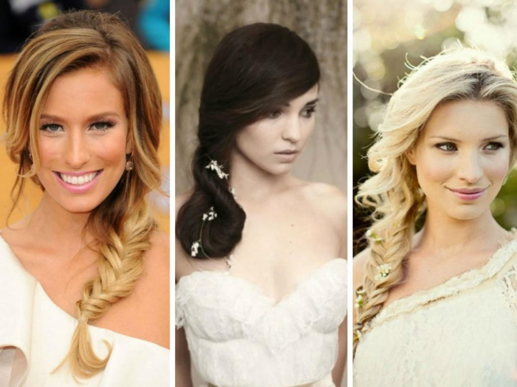 wedding hairstyle for round faces