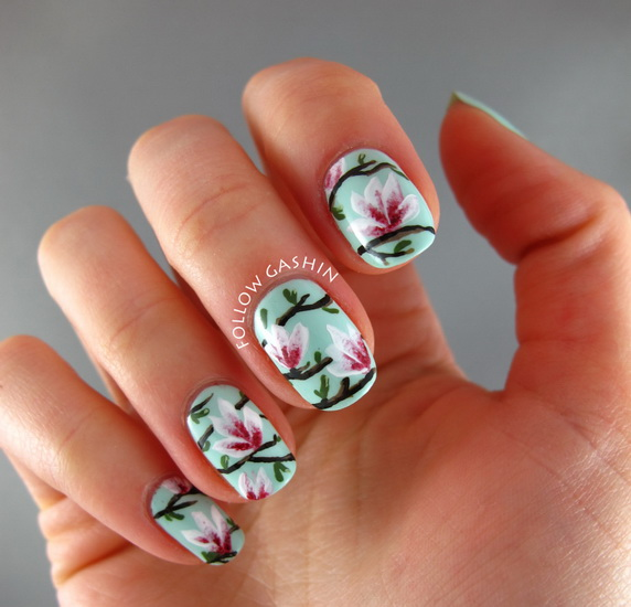 Beautiful Pictures With Flower Nail Designs Yve