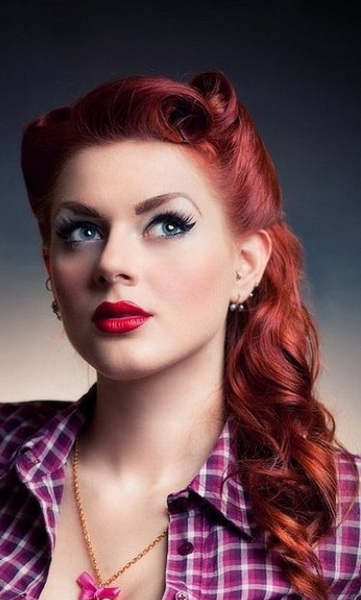 15 Pin up hairstyles easy to make - yve-style.com