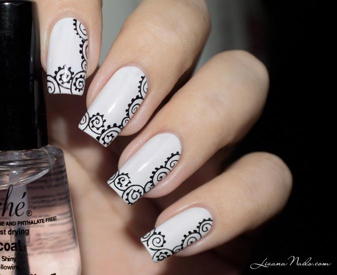 Amazing Black and white nail designs 20 Amazing Black and white nail designs