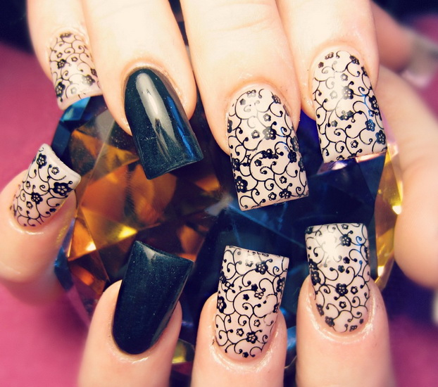 Black Nail 2015 design Top 10 Black Nail Designs