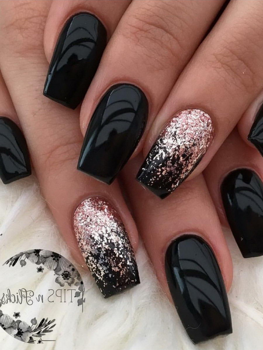 Black and white nail decorations